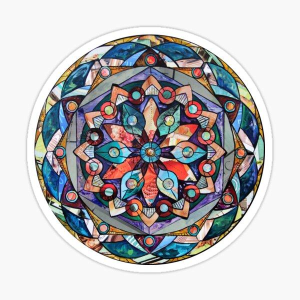 Rainbow Colored Mandala  Sticker
