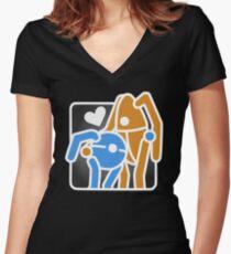 Portal Hug Women's Fitted V-Neck T-Shirt