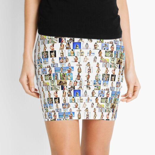 Bikini Women, Collage Mini Skirt