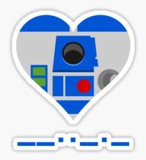 I love you R2D2 Sticker