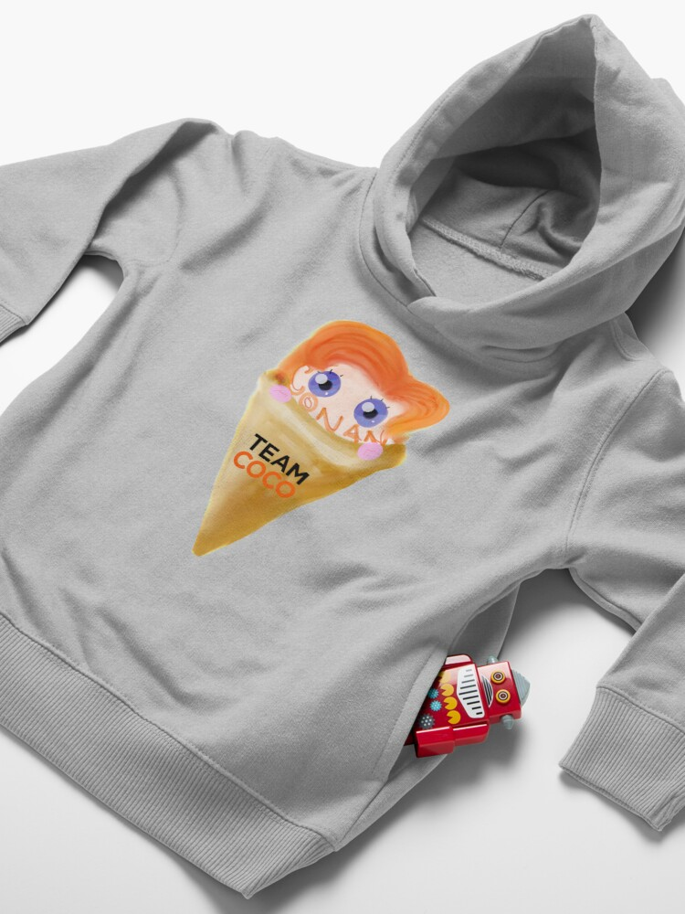 Alternate view of Ice Cream CONAN Toddler Pullover Hoodie