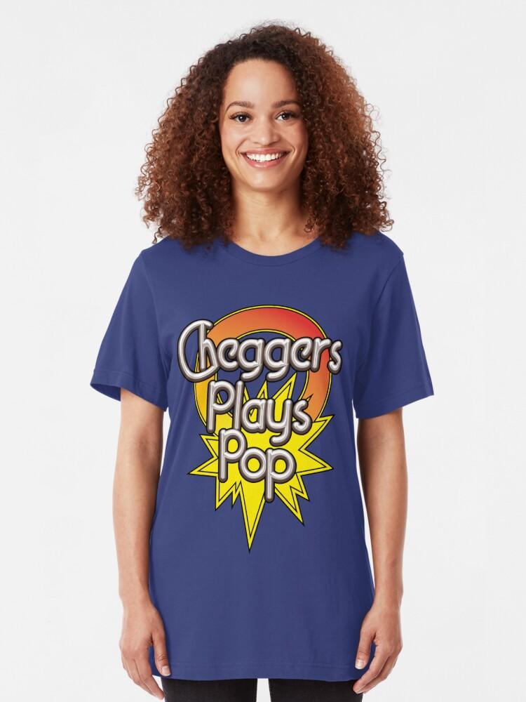 Alternate view of NDVH Cheggers Plays Pop Slim Fit T-Shirt