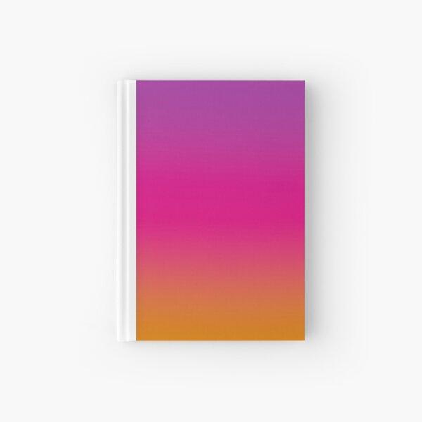 Purple, Pink, And Orange design Hardcover Journal