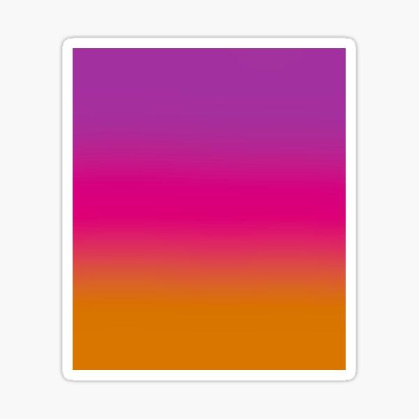 Purple, Pink, And Orange design Sticker