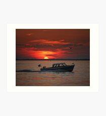 Lyman cruise at sunset Art Print