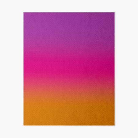 Purple, Pink, And Orange design Art Board Print
