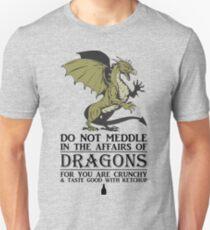 2 Many Dragon Meddlers Unisex T-Shirt