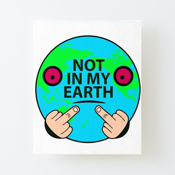 Not on my land, China America anti-pollution illustration Canvas Mounted Print