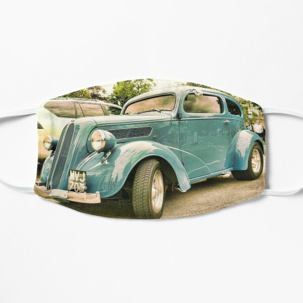 Vintage classic blue car in Cotsworld Mask