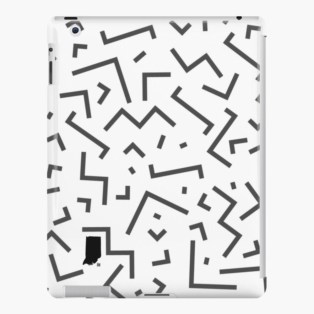 Tribal Print-Indiana-Black and White iPad Case & Skin