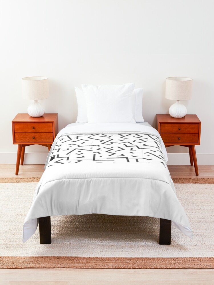 Alternate view of Tribal Print-Indiana-Black and White Comforter