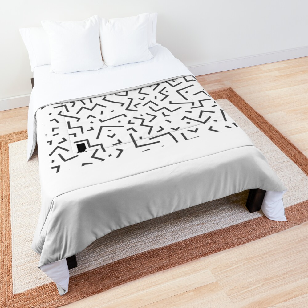 Tribal Print-Indiana-Black and White Comforter