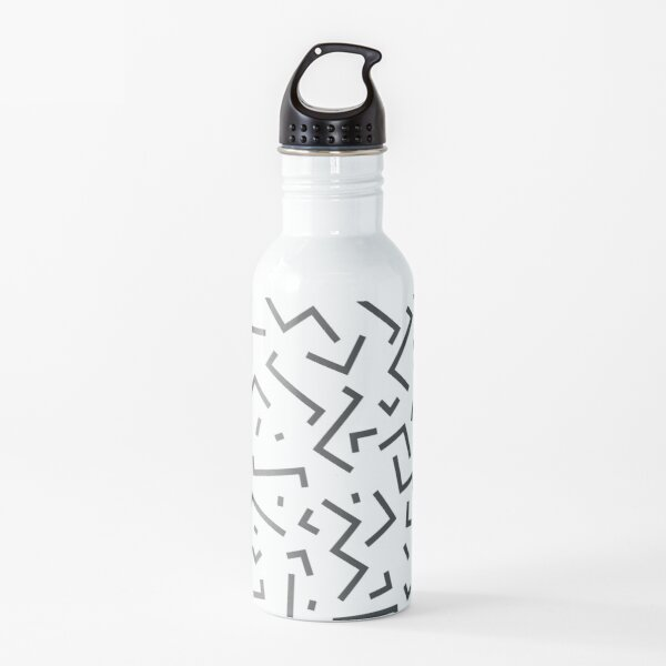 Tribal Print-Indiana-Black and White Water Bottle