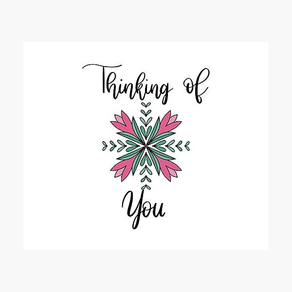 Thinking Of You Floral Mandala Photographic Print