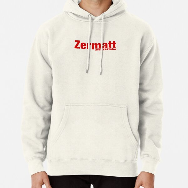 Zermatt Switzerland Exclusion Red Pullover Hoodie