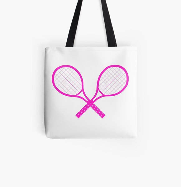Crossed Tennis Rackets  All Over Print Tote Bag