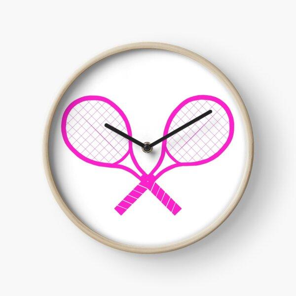 Crossed Tennis Rackets  Clock