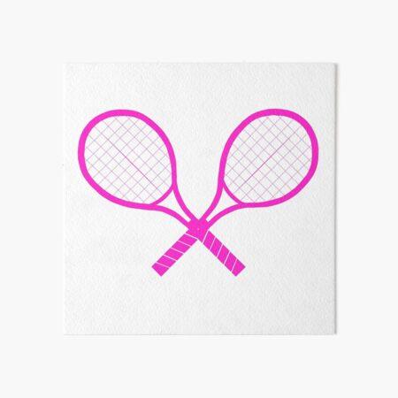 Crossed Tennis Rackets  Art Board Print