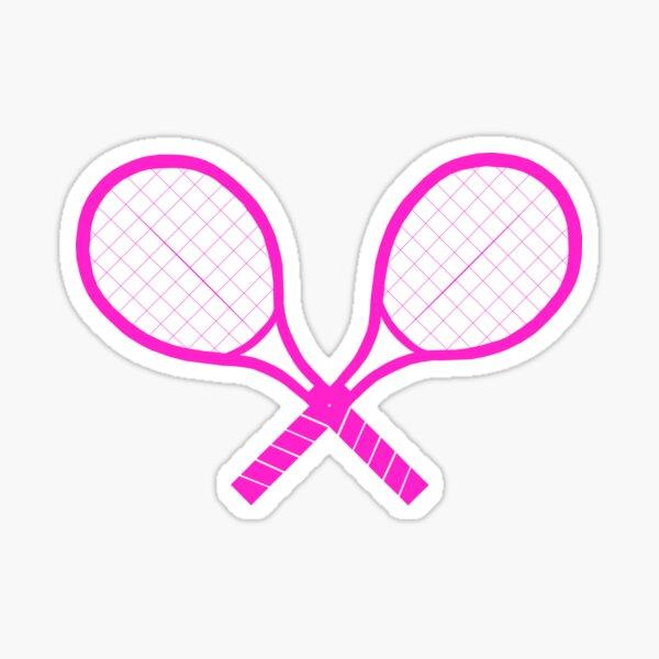 Crossed Tennis Rackets  Sticker