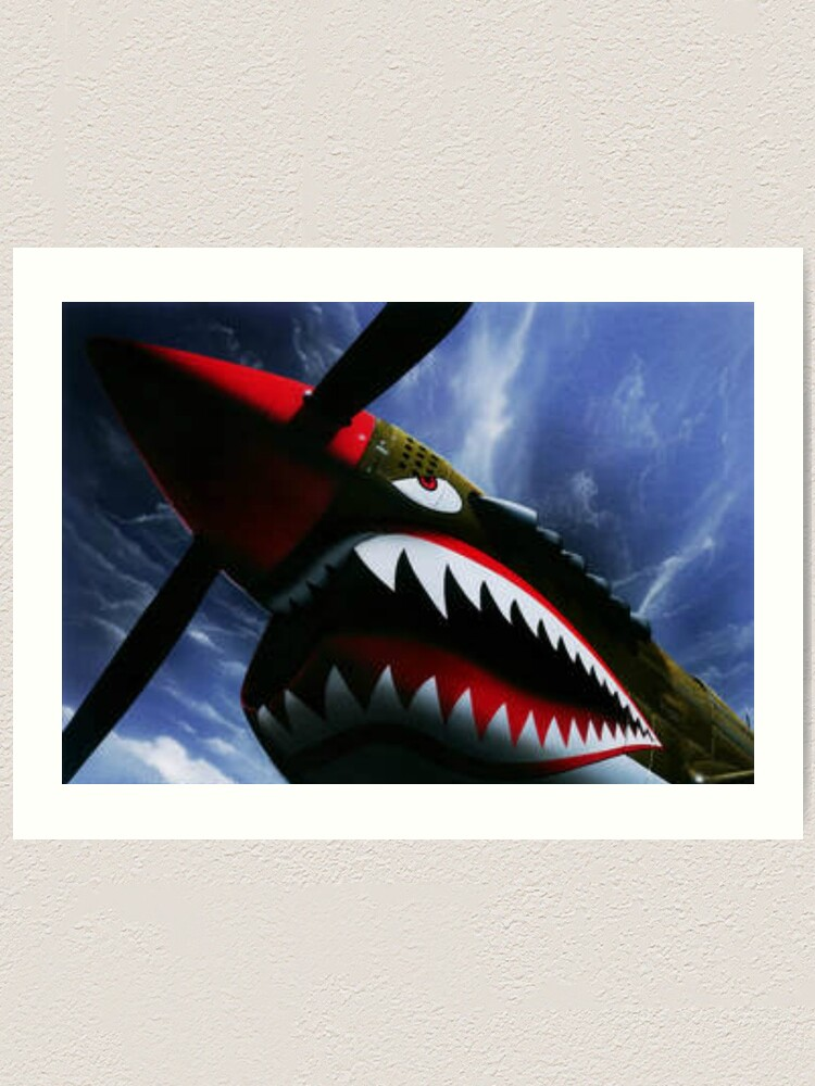 Alternate view of The Curtiss P-40 Warhawk Plane-American Fighter Aircraft Art Print