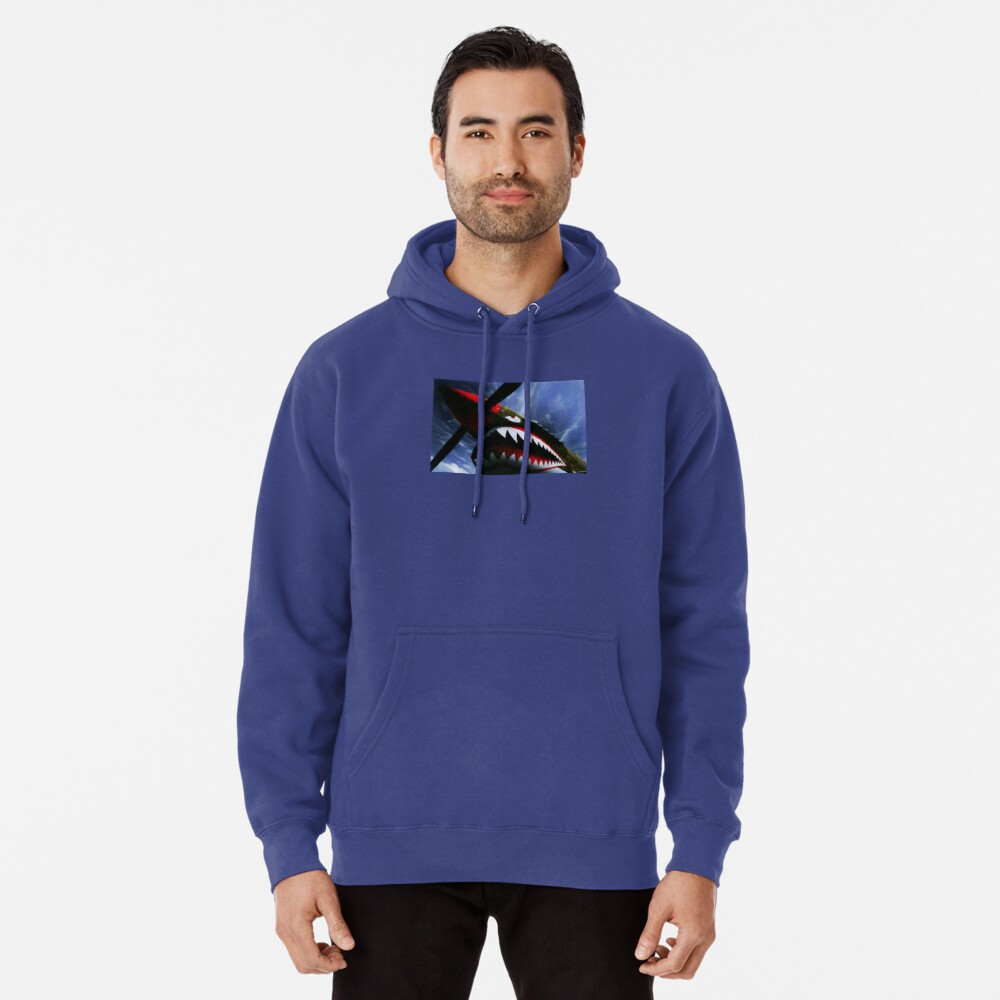 The Curtiss P-40 Warhawk Plane-American Fighter Aircraft Pullover Hoodie