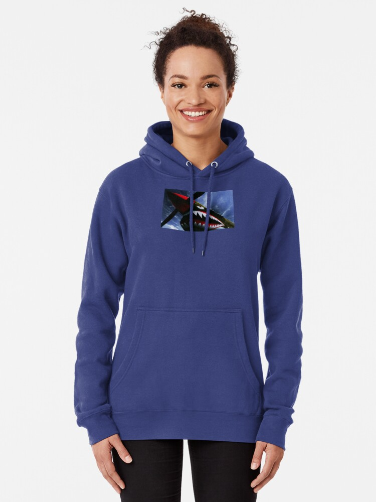 Alternate view of The Curtiss P-40 Warhawk Plane-American Fighter Aircraft Pullover Hoodie