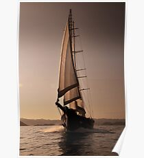 big luxury sailboat Poster