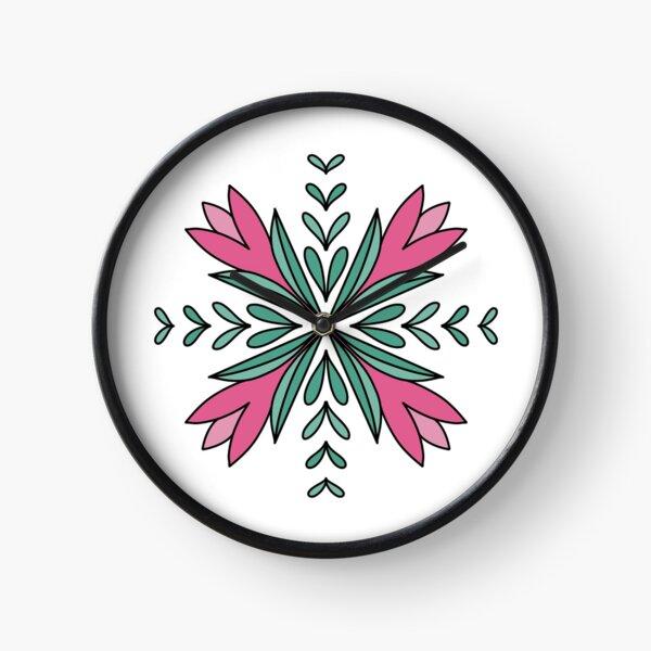 Floral Mandala Design Clock