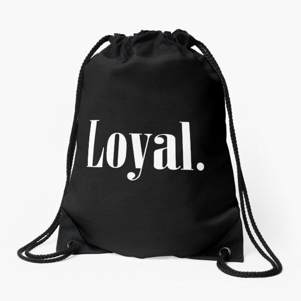 Law of Attraction - Loyal. (Reverse Black) Drawstring Bag