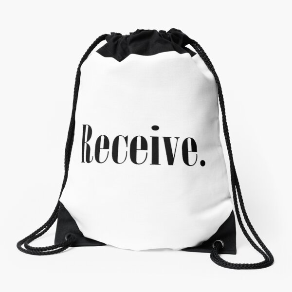 Law of Attraction - Receive. Drawstring Bag