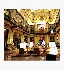Urban Abstract Hotel Lobby Photographic Print