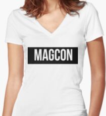 magcon Women's Fitted V-Neck T-Shirt
