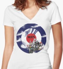 MODS Women's Fitted V-Neck T-Shirt