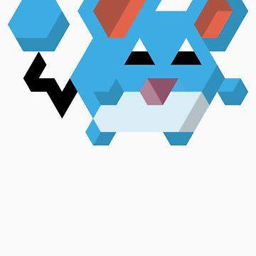 Pokémon Hexels - Marill by Leyendecker