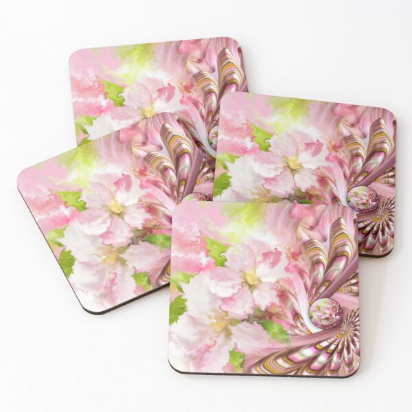 Apple Blossoms Coasters (Set of 4)