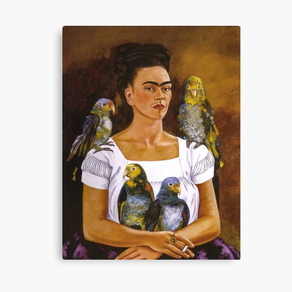 Me and My Parrot by Frida Kahlo Canvas Print