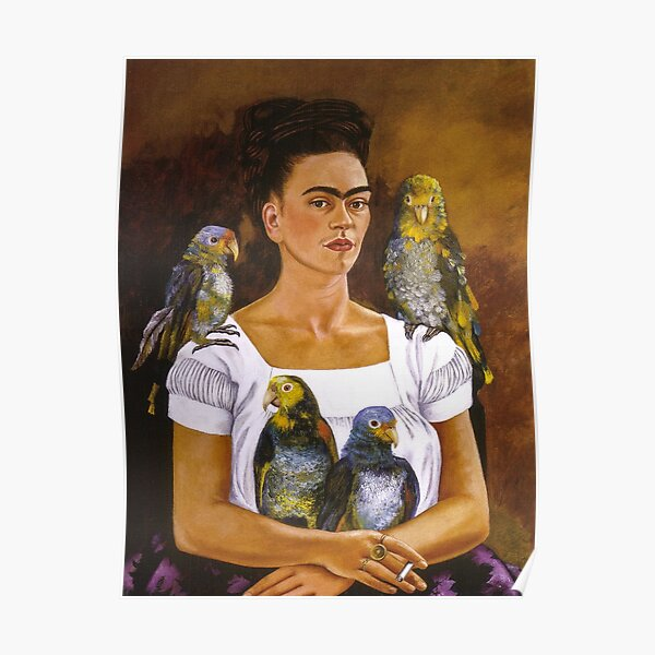 Me and My Parrot by Frida Kahlo Poster