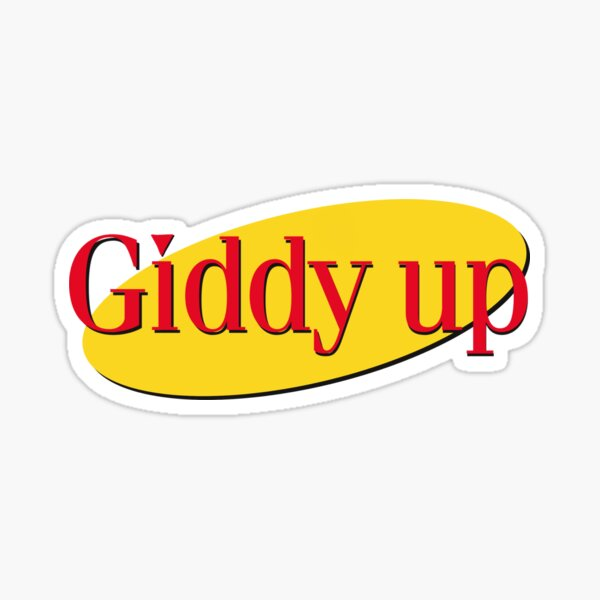 Kramer Giddy up Sticker