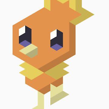 Pokémon Hexels - Torchic by Leyendecker