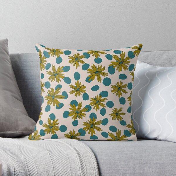Daisy Dots Throw Pillow