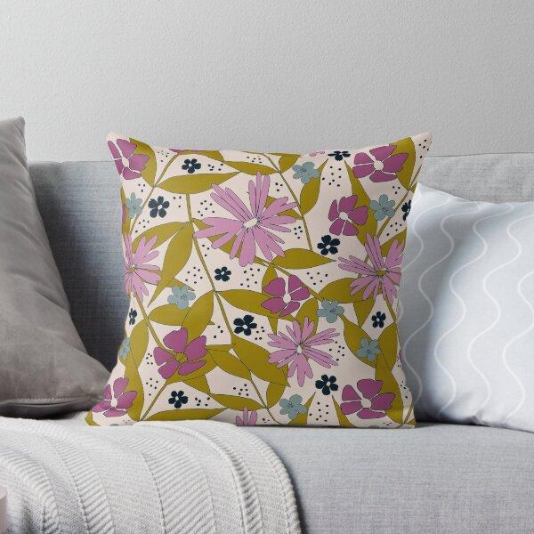 Wildflower Power Throw Pillow