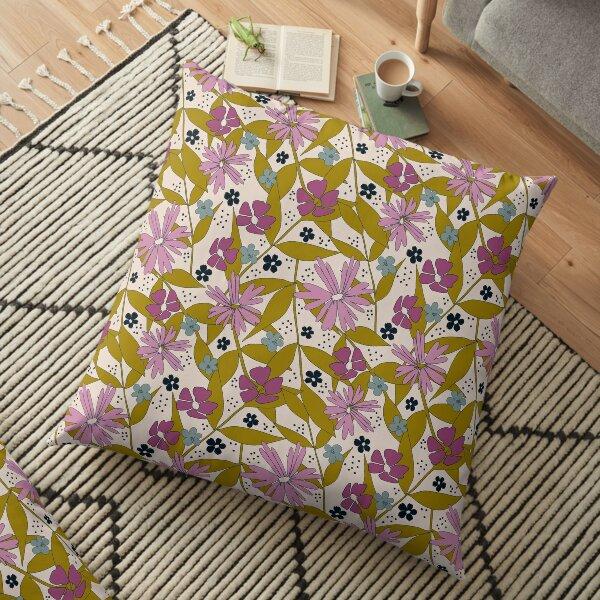 Wildflower Power Floor Pillow