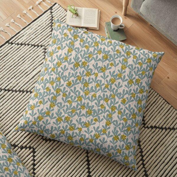 Layered Daises Floor Pillow