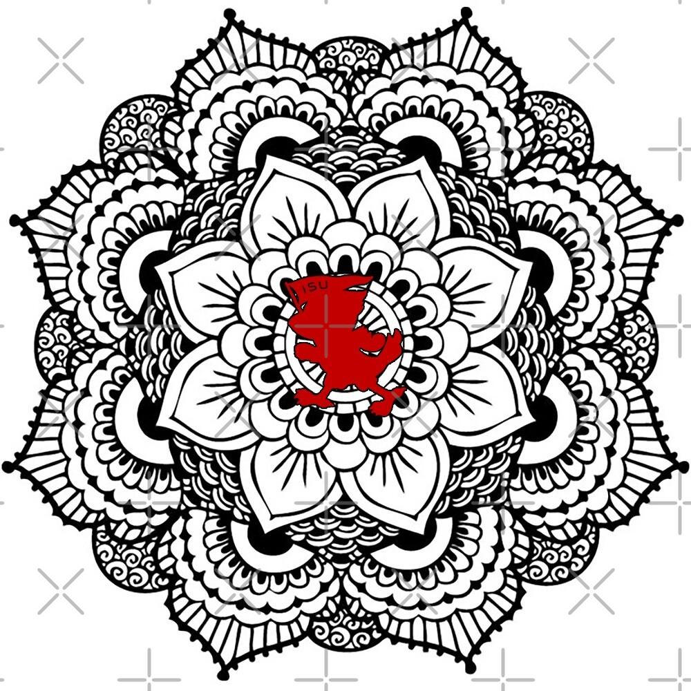Iowa State Cy Mandala by emifrohn