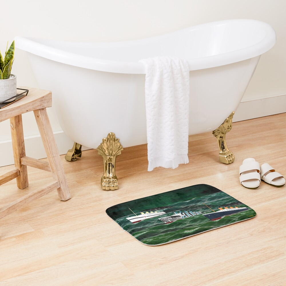 The 3 Giant Sisters Sailing Together Bath Mat