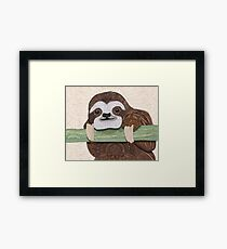 It's a sloth kind of day  Framed Print