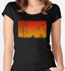 Real Duck Hunt Women's Fitted Scoop T-Shirt