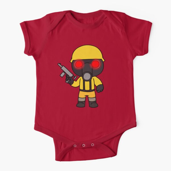 Roblox Gas Mask Outfit Obby For Free Robux Working Roblox Piggy Chapter Short Sleeve Baby One Piece Redbubble