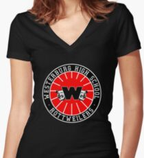 Westerburg High School Rottweilers Women's Fitted V-Neck T-Shirt