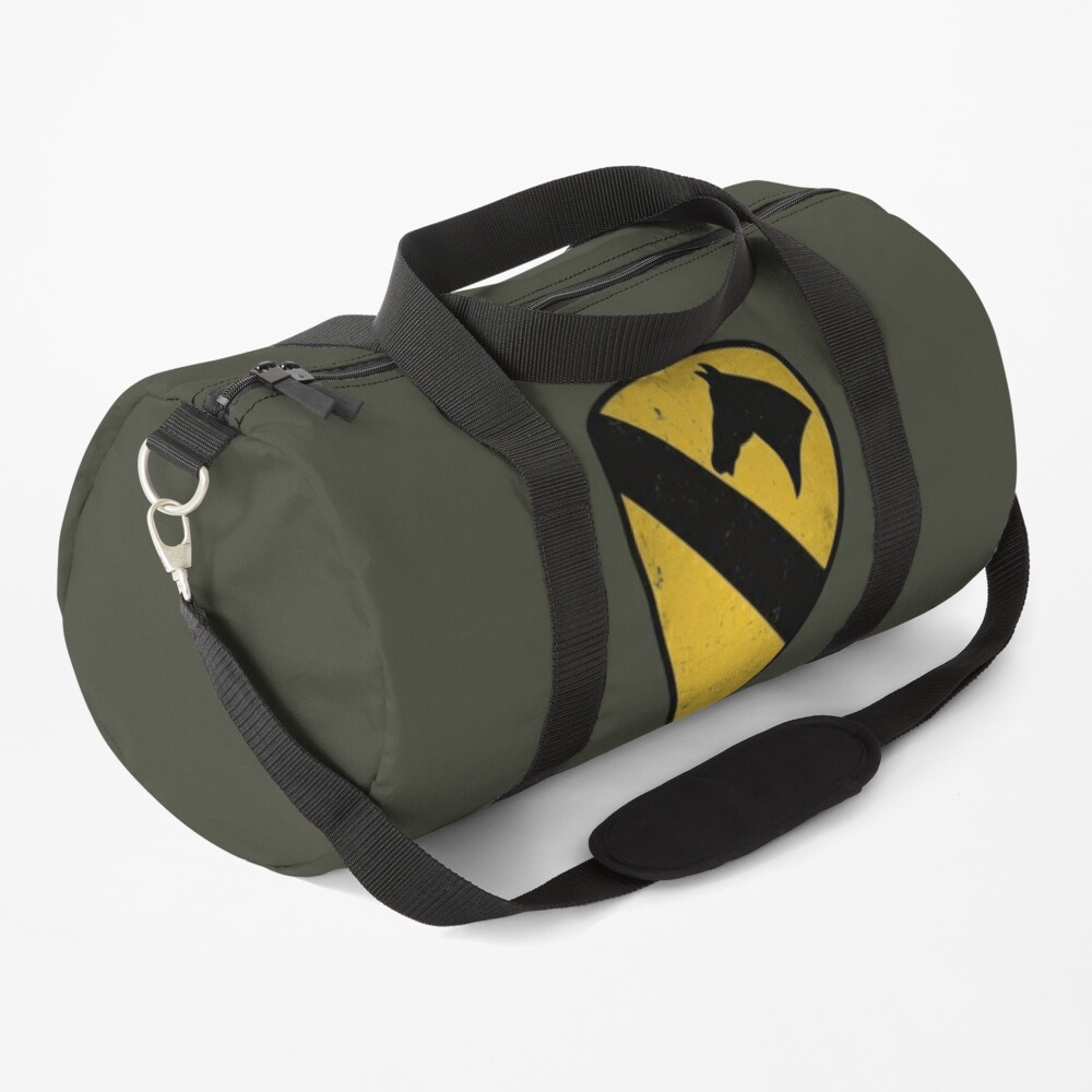 1st Cavalry Division Distressed Duffle Bag